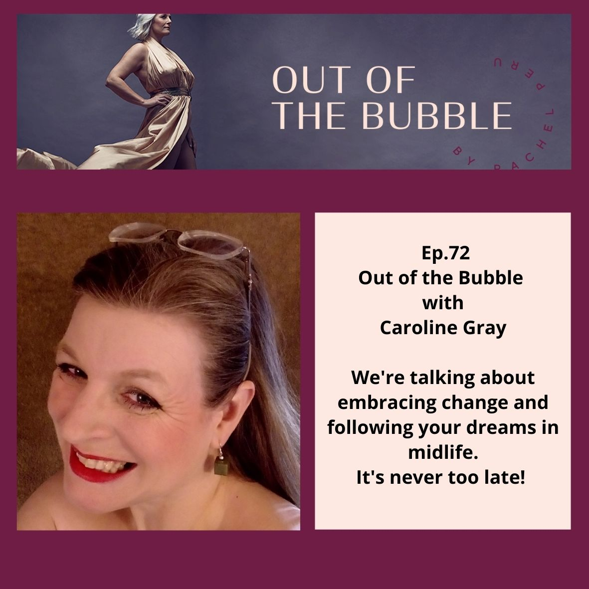 Ep.72 Out of the Bubble with fashion and accessories designer Caroline Gray